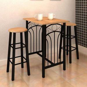 TABLE À MANGER COMPLÈTE Ensemble Table à Manger Table De Bar Avec 2 Chaise