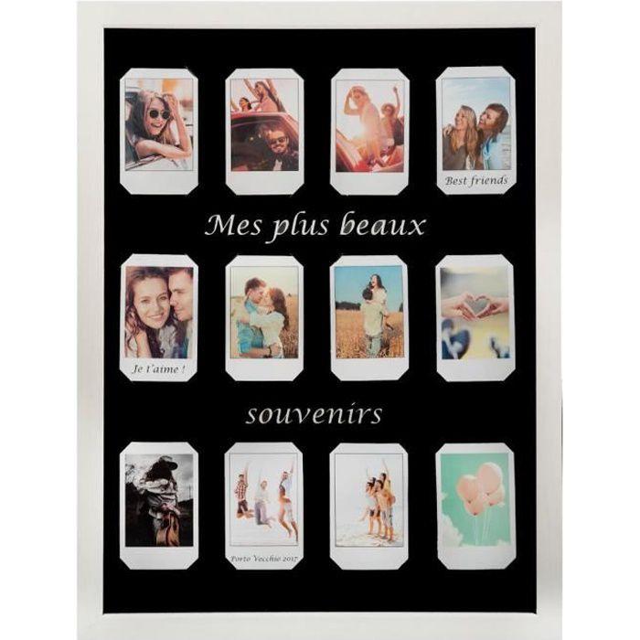 Pêle-mêle Polaroid - 12 Photos - Blanc
