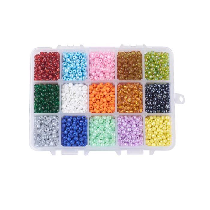 1 boîte bricolage tissé perlé matériel à la main Puzzle verre petits pendentifs perles artisanat pour BRACELET - GOURMETTE - JONC