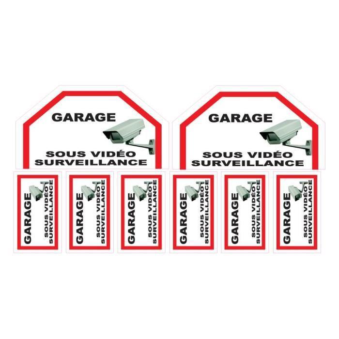 Lot de stickers vidéosurveillance -Garage-