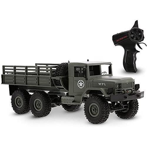 WPL B16 voiture RC, 1-16 échelle 2.4Ghz 2CH 6WD camion militaire télécommandé, véhicule électrique de voiture de l'armée de chenille