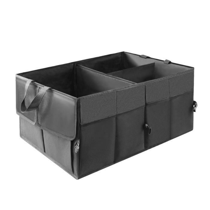 Boite Rangement Coffre de Voiture, SIMIKE Organiseur Coffre Sac Caisse Voiture Pliable Tissu Durable Oxford Accessoire Voiture