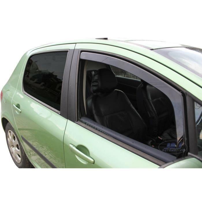 - Deflecteurs d'Air déflecteurs de vent Compatible avec Peugeot 307 5 Portes 2001-2008 2 pièces