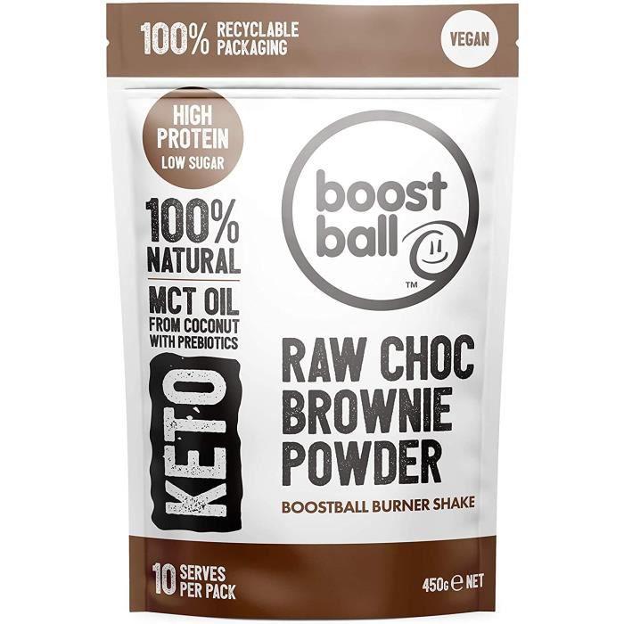 Keto Poudre Protéinée Naturelle Saveur Brownie au Chocolat Vegan Shake Faible en GlucidesSucre AjoutéGluten Huile de Palme avec 414