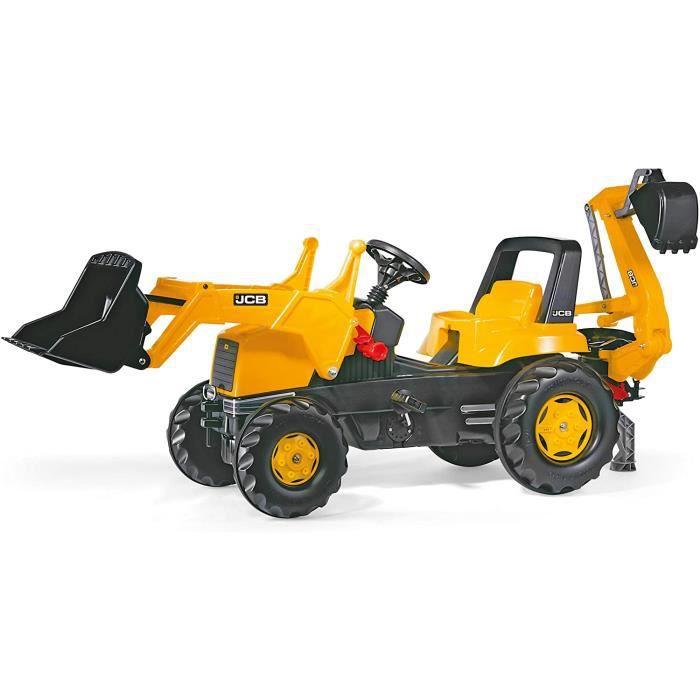 Vélos et véhicules pour enfants ROLLY TOYS - 81 200 4 - Tracteur À Pédales - Rollyjunior JCB + Pelle Avant + Excavateur 34758