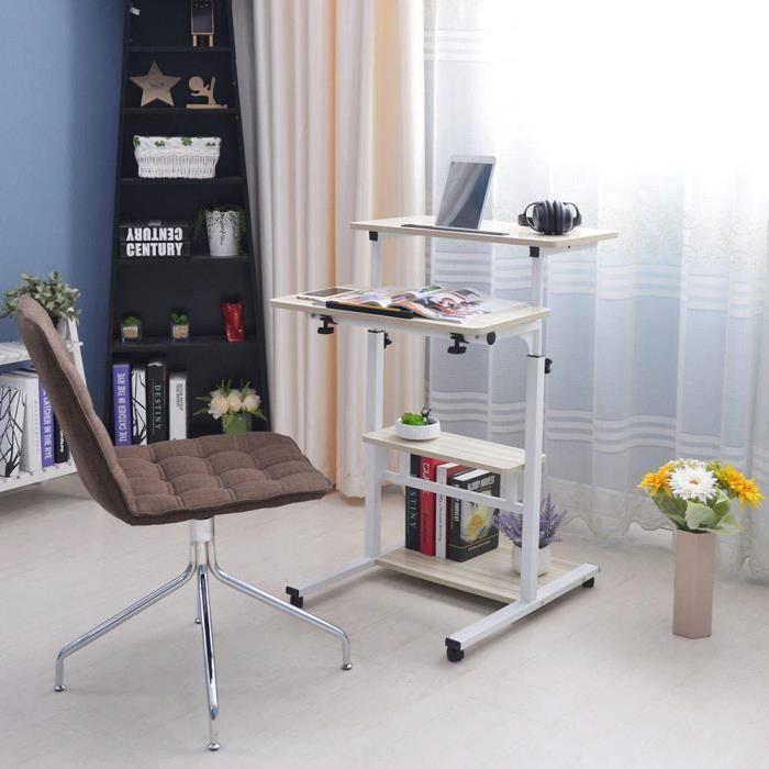 ZJCHAO bureau debout pliable Bureau d'ordinateur portable debout pliable réglable en hauteur Table d'ordinateur domestique à 4