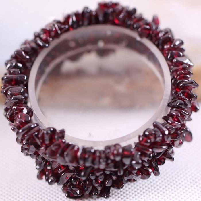 Garnet-MULTI -Bracelet enroulé en pierre de grenat rouge pour femmes,tissage de perles,or,œil de tigre,Quartz rose,cristal exte