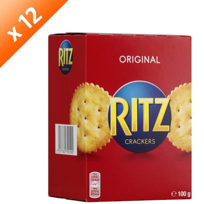 [LOT DE 12] RITZ Biscuits crackers 100g