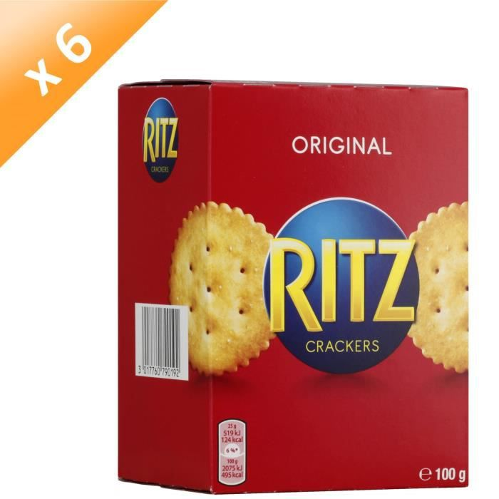 [LOT DE 6] RITZ Biscuits crackers 100g