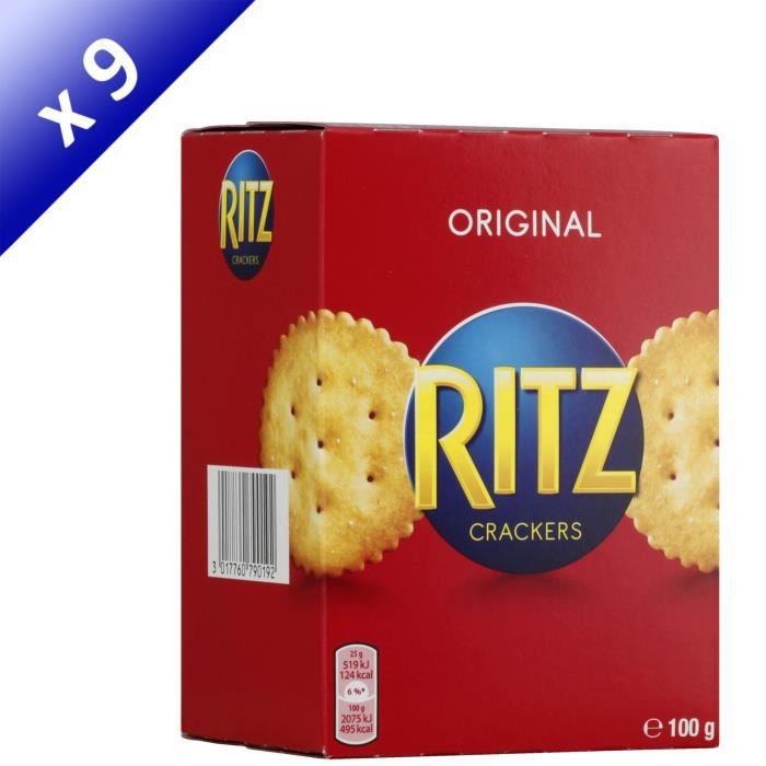 [LOT DE 9] RITZ Biscuits crackers 100g