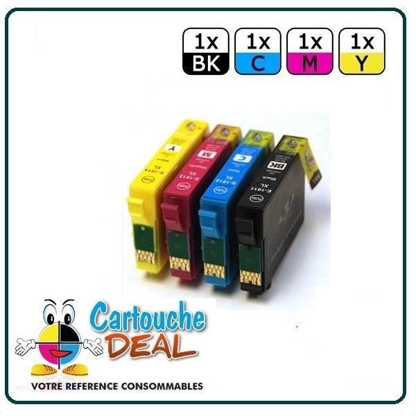 x4 Epson Expression Home XP30 XP302 XP305 XP312 XP315 XP322 XP325 Pack cartouche compatible
