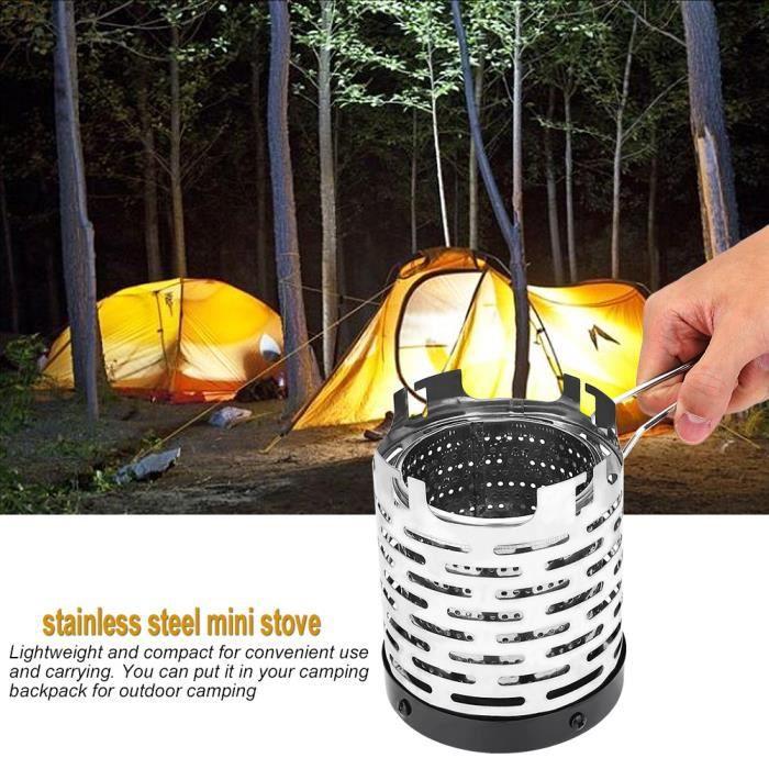 Mini couverture de cuisinière à gaz de chauffage en métal pliante extérieure portable accessoire de randonnée de camping AB070