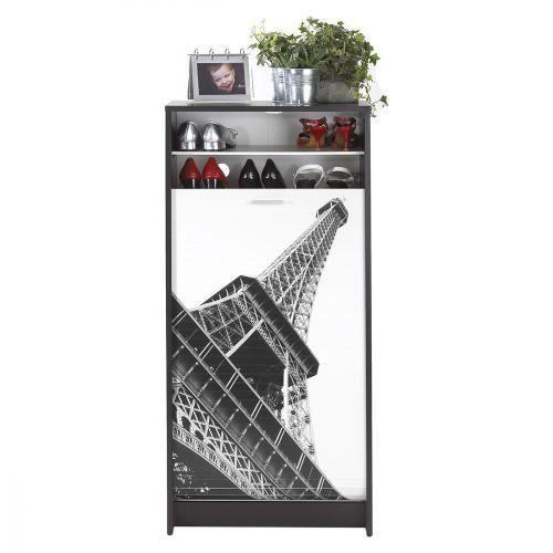 Meuble a Chaussures Shoot Paris Noir