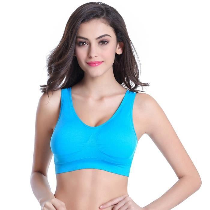 Sous-vêtements de Yoga Sport à Glissière Femme Antichoc en Cours d'exécution Rassembler Soutien-Gorge de Fitness