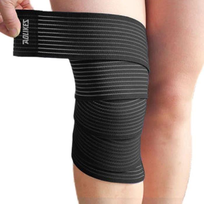 PROTEGE-CHEVILLES - CHEVILLERE,Bandes de soutien de coude de genou de jambe bandes de Compression d'enveloppe - Type Black
