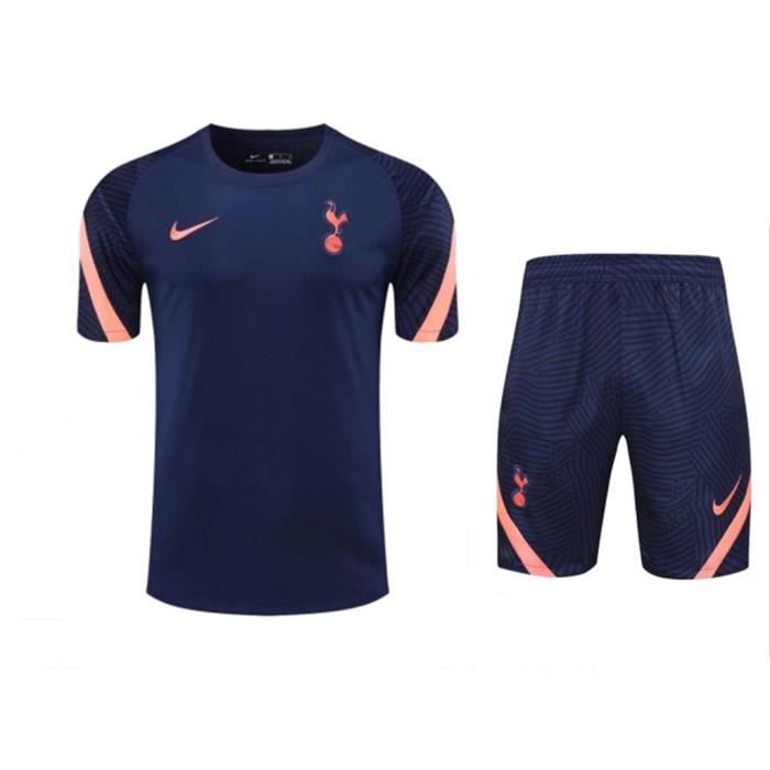 Maillot Tottenham Football Training Hauts + Short Adulte Kit 20/21.