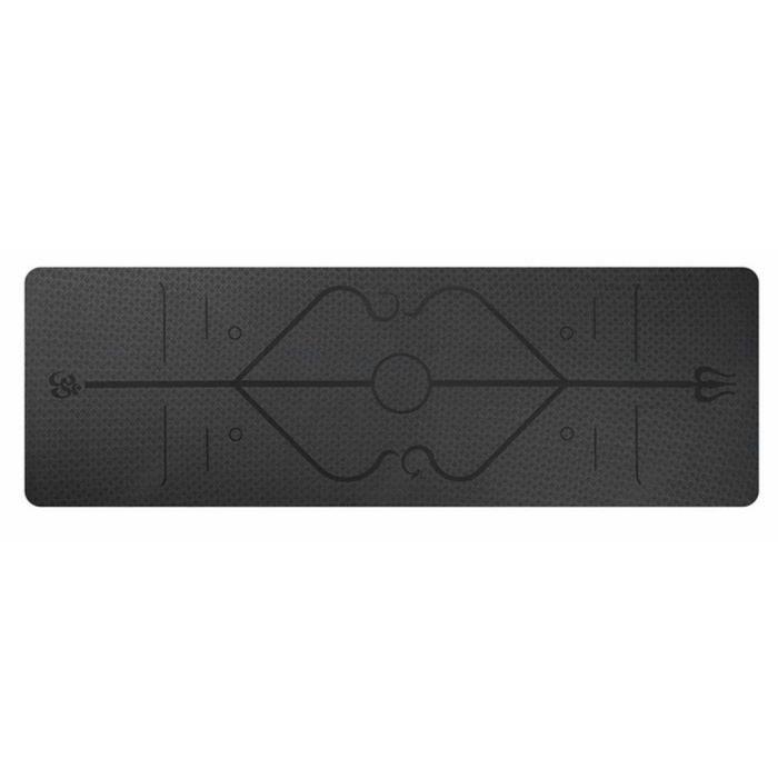 Tapis Yoga -Tapis De Sport Fitness a La Maison -Tapis de Pilates,Poids léger,Antidérapant 183 * 61 * 0,6 cm noir