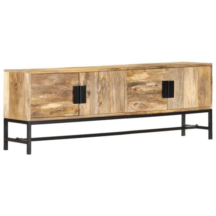 1429Super® Meuble TV de Haute qualité-Buffet Bas Téléviseur-Armoire Salon DVD Meuble HIFI-Armoire TELE-Séjour 140x30x50 cm Bois de m