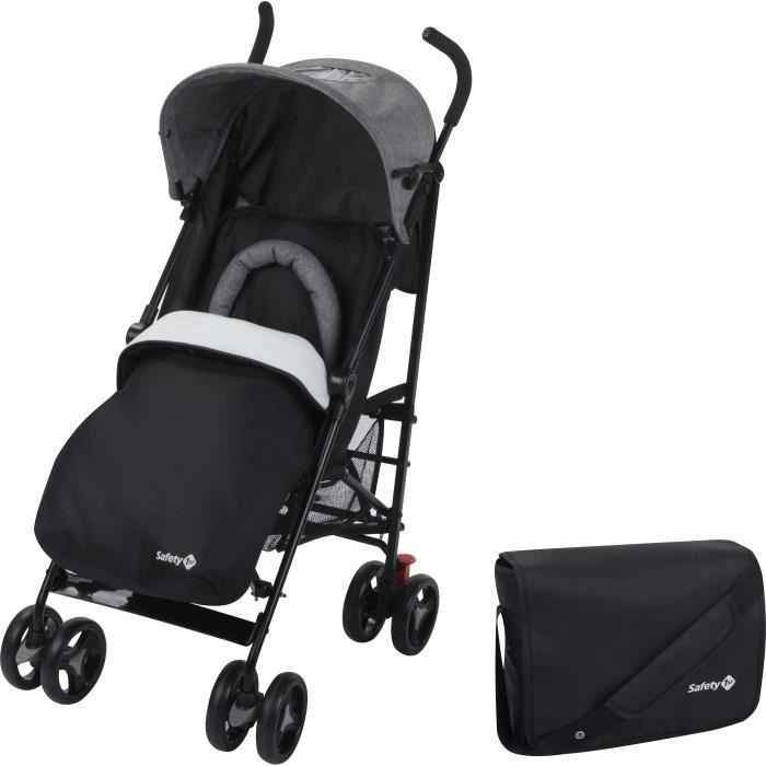 SAFETY 1ST Poussette canne Rainbow Pack - Multiposition - Noir