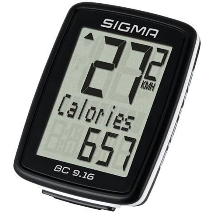 Sigma Ordinateur de vélo BC 9.16 STS Noir