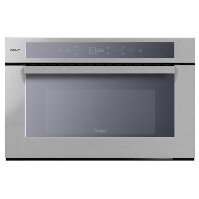 WHIRLPOOL AMW 761 IXL-Micro ondes combiné encastrable inox-31 L-1000 W-Grill 800 W-Chaleur pulsée 1200 W-Puissance absorbée 2300 W