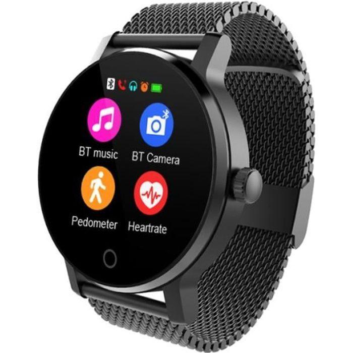 Montre Connectée Android Ios Smartwatch 1.3 Pouce Ip54 Cardio Noir - Yonis