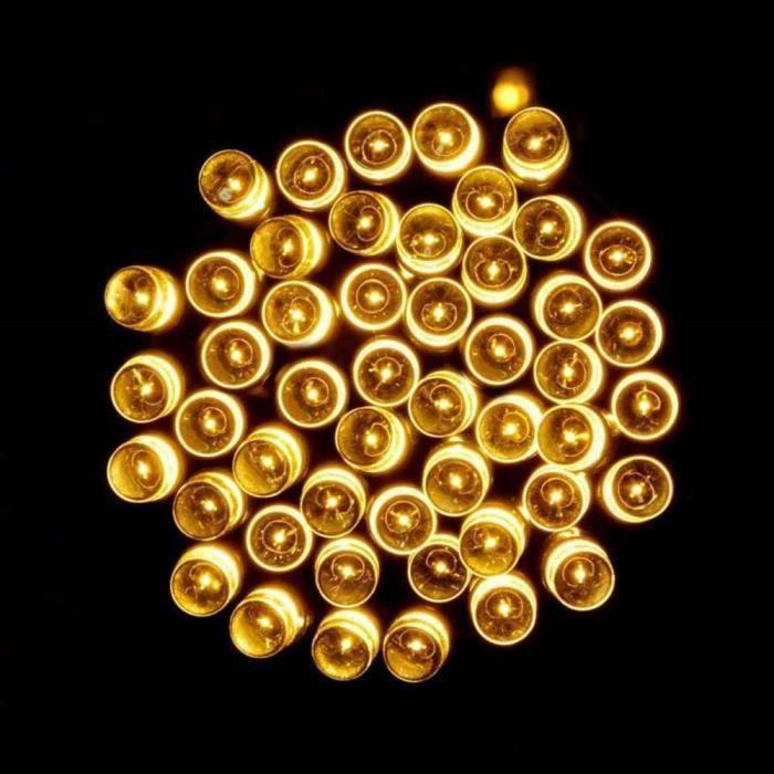 Best Season 472-62 Guirlande lumineuse perles Ext/érieur Jaune 80 LED