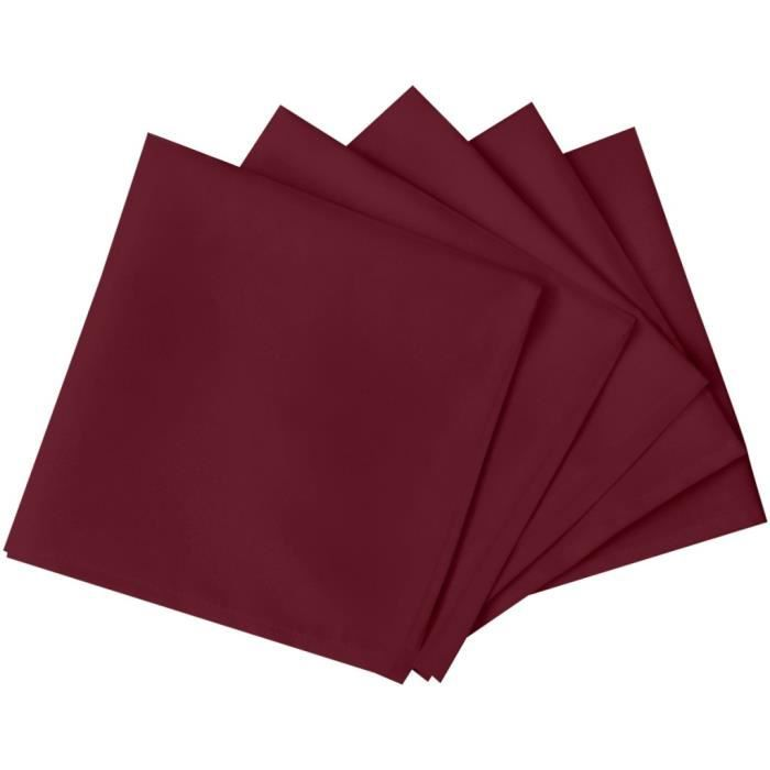 Grand Serviettes En Tissu Serviettes De Table 10 Pcs Bordeaux 50 X 50 Cm