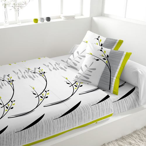 parure de lit 4 pieces flanelle zen blanc achat vente. Black Bedroom Furniture Sets. Home Design Ideas