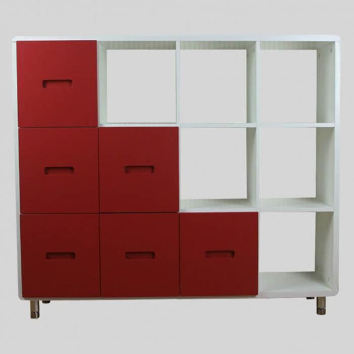 meuble de biblioth que avec tiroirs en coloris achat vente biblioth que meuble de. Black Bedroom Furniture Sets. Home Design Ideas