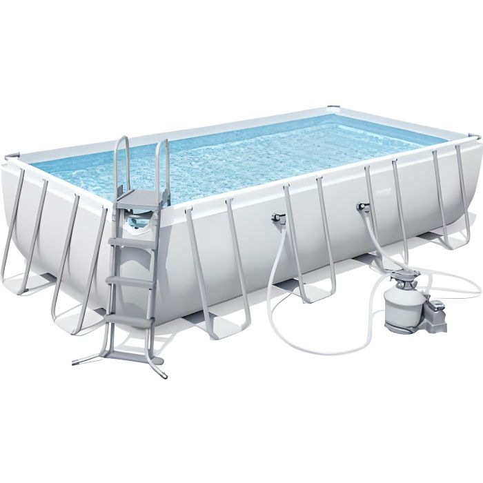 bestway kit piscine tubulaire rectangulaire l549