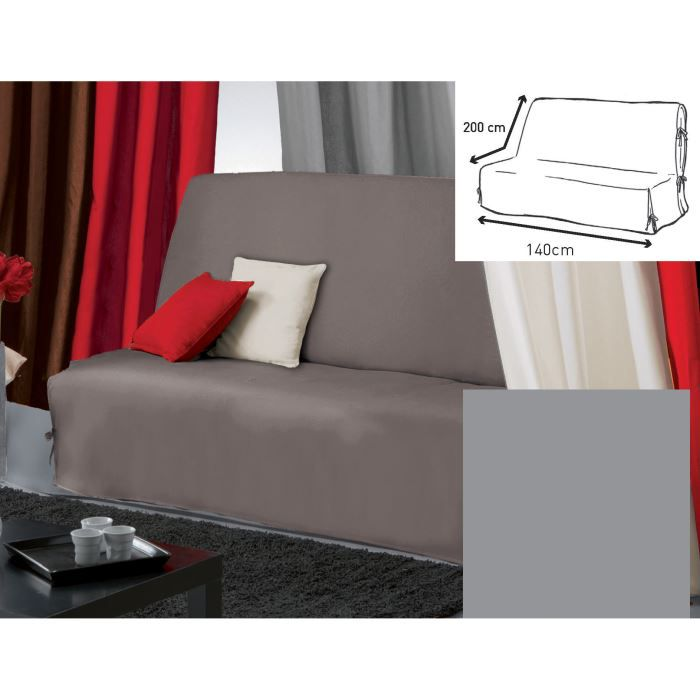 housse bz 140x200 panama gris achat vente housse de canap cdiscount. Black Bedroom Furniture Sets. Home Design Ideas