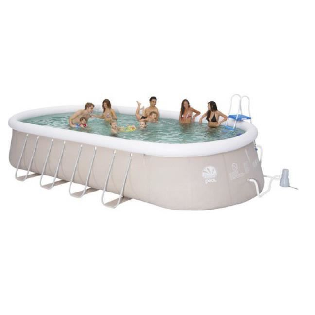 Piscine tubulaire ovale 610 x 360 x 122 cm achat vente for Piscine tubulaire occasion