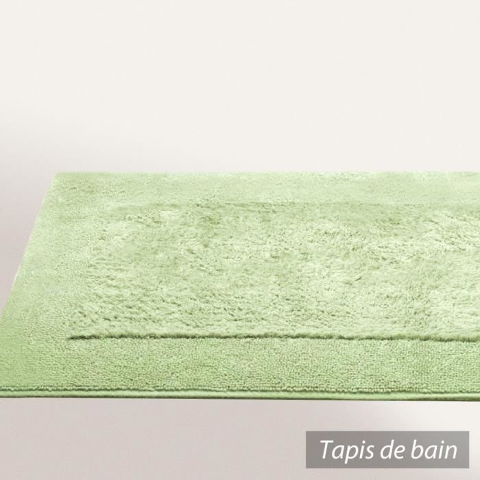 tapis de bain 60x60 cm dream vert pistache 2000 achat vente tapis bain cdiscount. Black Bedroom Furniture Sets. Home Design Ideas