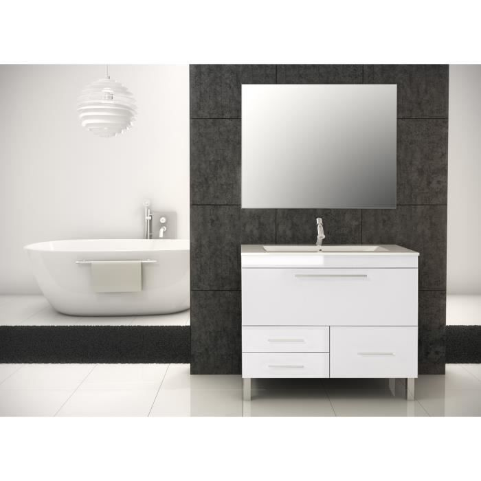 londres meuble de salle de bain blanc 100 cm achat. Black Bedroom Furniture Sets. Home Design Ideas