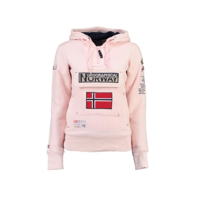 Sweat à capuche Geographical Norway Gymclass Rose Clair Rose