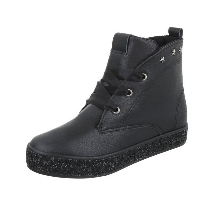 Boots en cuir pour dames et messieurs Unisexe Bottes