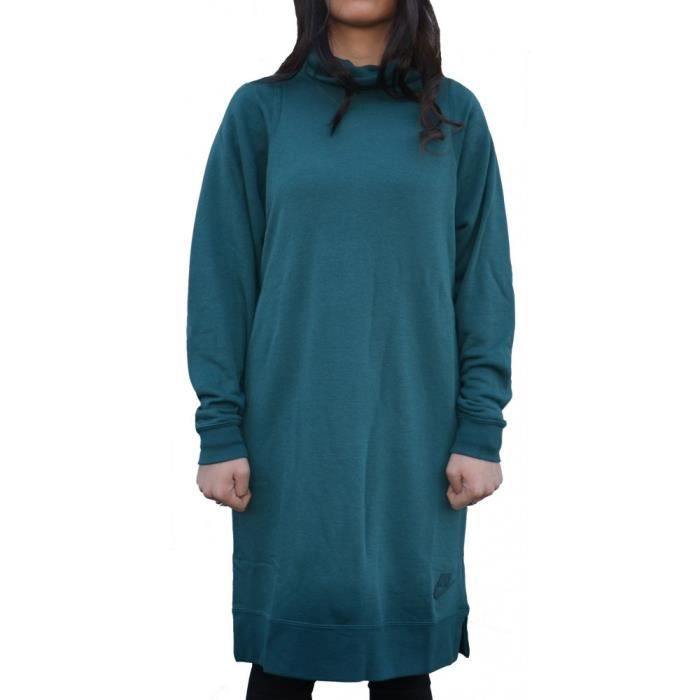 Economía pelota salvar  Nike - Nike Sportswear Femme Robe Vert Vert - Achat / Vente robe - Cdiscount