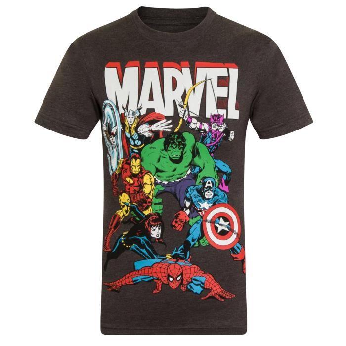 Gar/çon Marvel Hulkpose T-Shirt Manches Longues