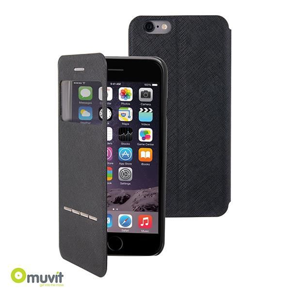 etui window folio noir muvit iphone 6s 6