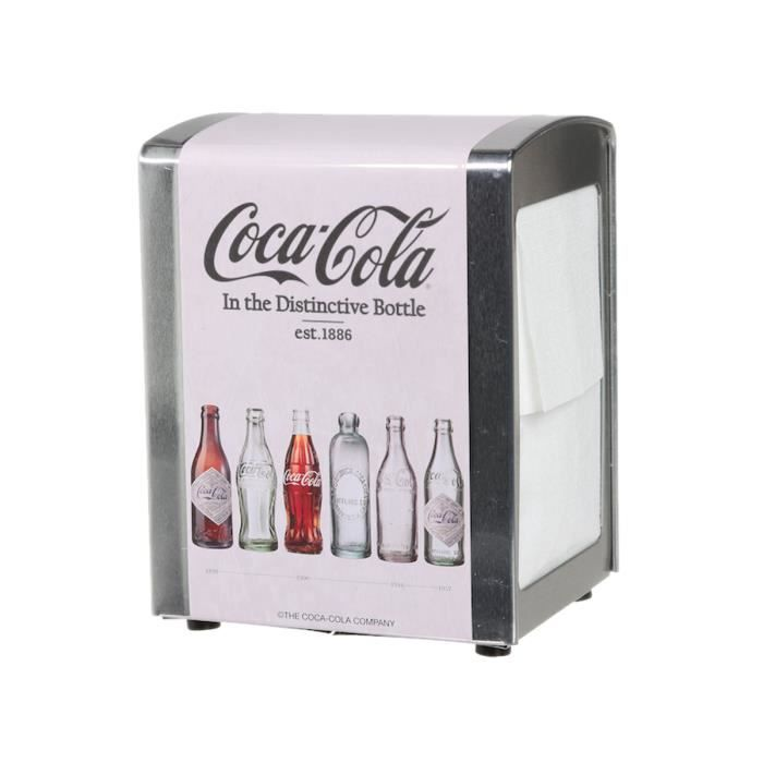 distributeur de serviettes papier coca cola achat vente serviette de table cdiscount. Black Bedroom Furniture Sets. Home Design Ideas