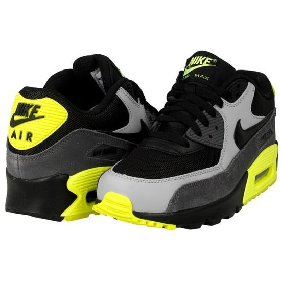 save off 2f40d 0dea7 Baskets Nike Air Max 90 MESH (GS) 724824-002. Noir Noir - Achat   Vente  basket - Cdiscount