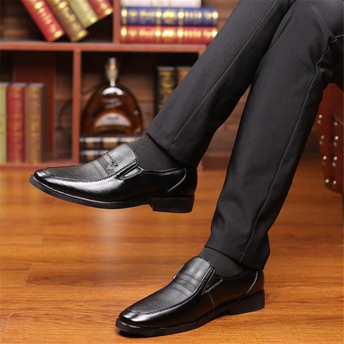 Hommes Affaires Bureau décontracté Oxfords derby chaussures plates Chaussures habillées Plus taille