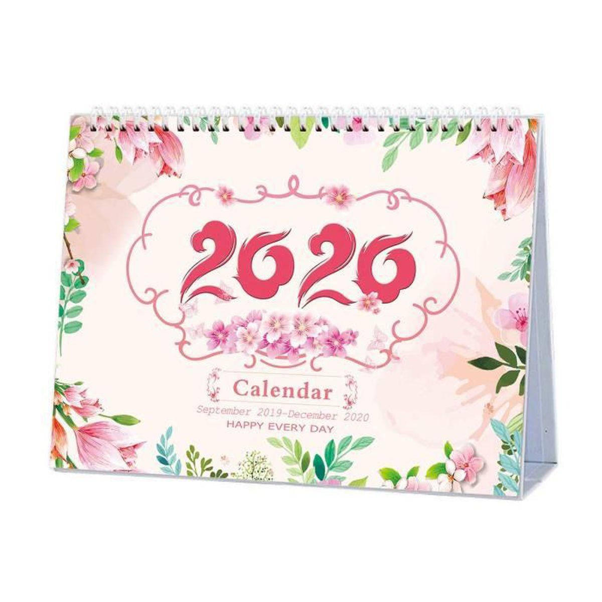 Calendrier De Decembre 2020.Calendrier De Bureau Septembre 2019 Decembre 2020 Mensuel