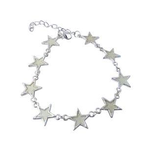 BRACELET - GOURMETTE Petrichor Fleurs lumineuses lumière étoiles coeur