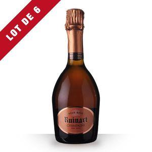 CHAMPAGNE 6X Ruinart Brut Rosé 37,5cl - Champagne