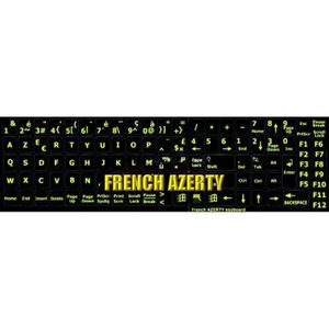 CLAVIER D'ORDINATEUR Stickers FLUO autocollants clavier AZERTY clavier