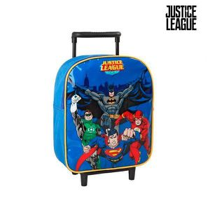 CARTABLE Cartable à roulettes bleu Justice League - Cartabl