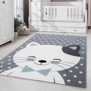 Tapis chambre enfant chat