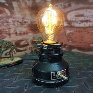 LAMPE A POSER Noir- e Vintage, Lampe de Bureau Industrielle r&ea